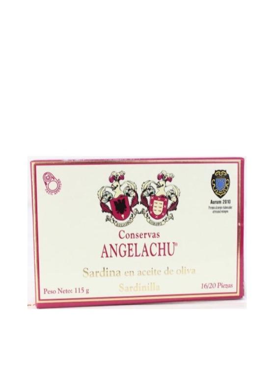 Sardinillas en aceite de oliva Angelachu 115gr.